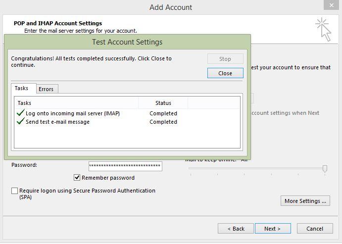 Outlook for Windows setup